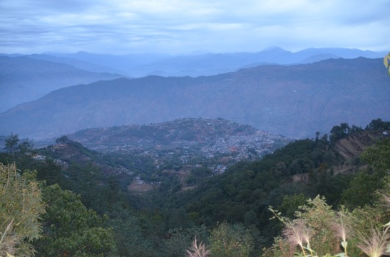 Phidim Bazar as seen from the mountain.