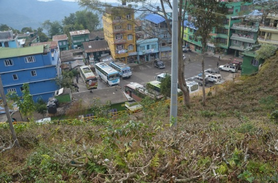 This is the Bus Park in Ilam Bazar. Ilam Bazar is beautiful city with Tea garden around.