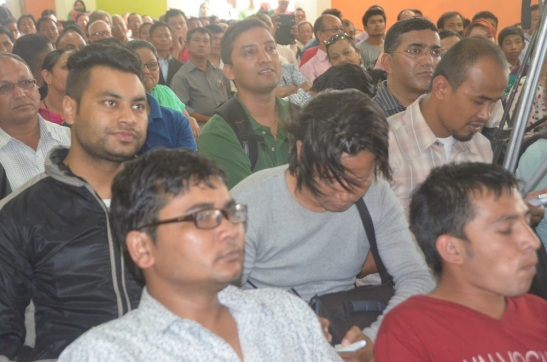Mass gathering in meeting organized by Nepal Christian Federation to demand Christian's right in new constitution.